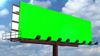 Illboard s pohyblivou mraky - zelená — Stock video