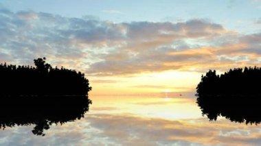 Lake sunset sunrise — Stock Video