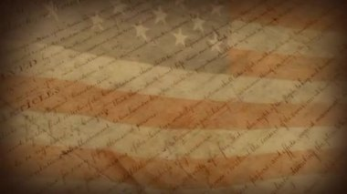 The Bill of Rights - motion background — Stok video