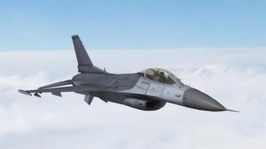 F-16 Fighter Jet  Airplane in fly — Video Stock