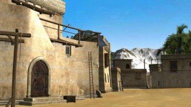 Old desert city — Stock Video