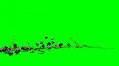 Debris rubble explode — Stock Video