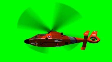 US Coast Guard Eurocopter in flight — Stock Video