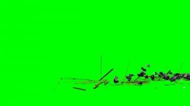 Explode debris rubble — Stock Video
