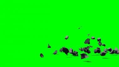 Exploding rubble stones — Stock Video