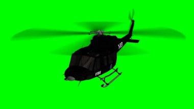 FBI helicopter in flight — Stock Video