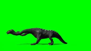 Loch Ness - Hydra mystical water Dragen Snake roars - green screen — Stock Video
