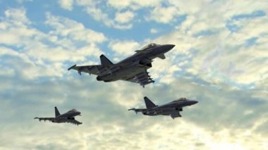 Armed fighter jets — Stock Video
