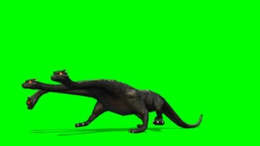 Loch Ness - Hydra mystical water Dragen Snake walks - green screen — Stock Video