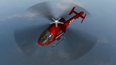 オープンウォーター以上空気救助ヘリコプター フライ — ストックビデオ