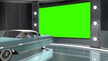 Car in virtual studio — ストックビデオ