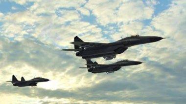 Jets flying in sky — Stock Video