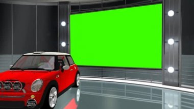 Car in virtual studio — Stockvideo