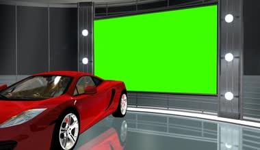 Car in virtual studio — Стоковое видео