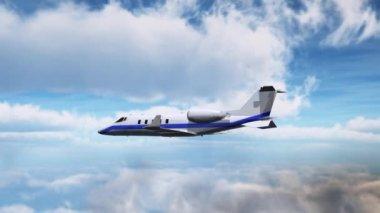 Private corporate jet — Stock Video
