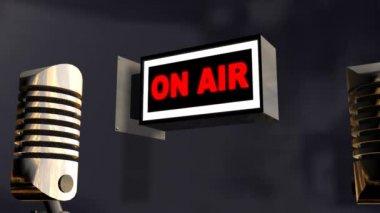 Mikrofon ile kayıt stüdyosu — Stok video