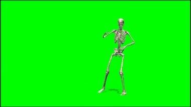 Skeleton dancing rap — Stock Video
