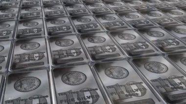 Ten ounces silver bars — Stock Video