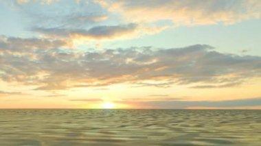 Cruising in ocean with beautiful sky view — Stock Video