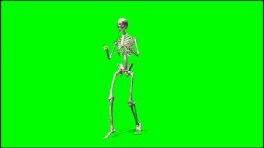 Male skeleton sneaks — Stock Video