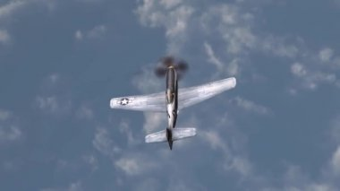 Fighter airplane in dogfight — Stock Video