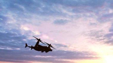 Osprey plane in flight — Stock Video