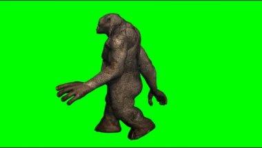 Troll mystical creature walking — Stock Video