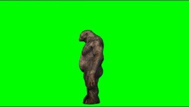 Troll mystical creature waving hand — Stock Video