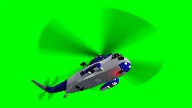 Helicopter Night Hawk in flight — Stockvideo