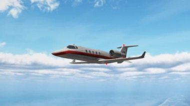 Private corporate jet — Stock Video