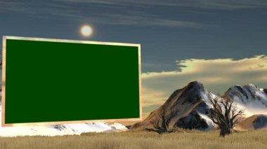 Green screen in savanna — Stockvideo
