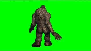 Troll mystical creature walking — Stock Video