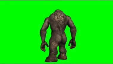 Troll mystical creature — Stock Video