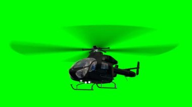 Black Helicopter in Flight — Stock Video