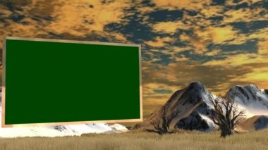 Green screen in savanna — Stock Video
