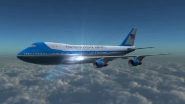 Boing Air Force One in flight — Stock Video