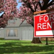 Home For Rent Real Estate Sign — Stock Photo #70291353