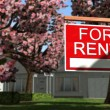 Home For Rent Real Estate Sign — Stock Photo #70291611