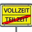 Full time and Part time - road sign — Stock Photo #74380821