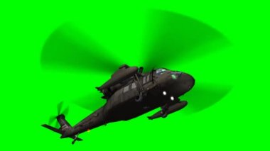 Military helicopter flying — Stock Video