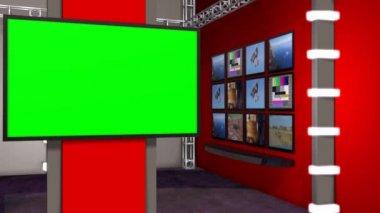 News Studio room — Stock Video