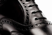 Mens leather shoes closeup — Stock Photo
