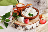 Rustic dairy products still life — Stock Photo