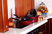 Pots in the interior — Fotografia Stock
