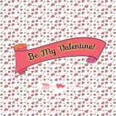 Be my valentine — Stockvector