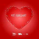 Hot February — Stock Vector