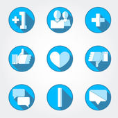 Social net icons set — Stock Vector