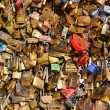 Постер, плакат: Locks on the bridge symbol of love