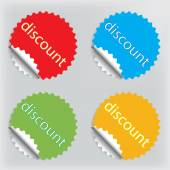 Discount light color — Stock Vector