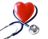 Stethoscope in the shape of a heart — Stock Photo